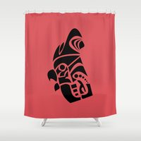 rooster Shower Curtains featuring Rooster by Hinterlund