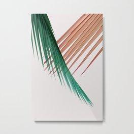 Palm Leaves, Tropical Plant Metal Print