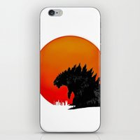 godzilla iPhone & iPod Skins featuring Godzilla by Maguire