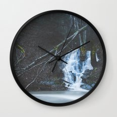 Emerging waterfall after the flood Wall Clock