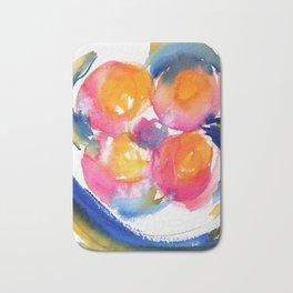 Peace Flower watercolor by CheyAnne Sexton Bath Mat