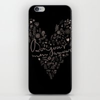 bonjour iPhone & iPod Skins featuring Bonjour by oh, sensation!