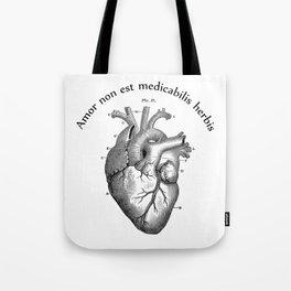 Amor non est medicabilis herbis Tote Bag