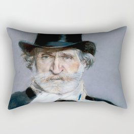 Giuseppe Verdi (1813 – 1901) by Giovanni Boldini (1842 - 1931)(2) Rectangular Pillow