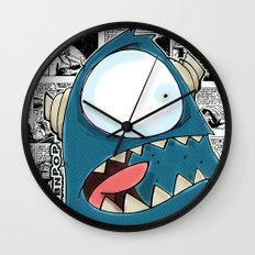 The Horror of it all BYRON Black and White Version Wall Clock