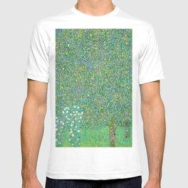 Rosebushes under the Trees, 1905 by Gustav Klimt T-shirt