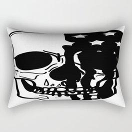 American Psycho Skull Rectangular Pillow