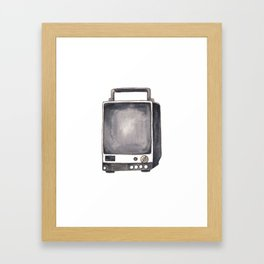 Vintage TV Sketch Framed Art Print