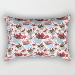 Cute Succulent Pot Plant Pattern Rectangular Pillow