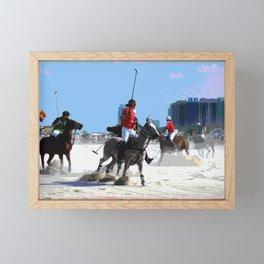 Polo Ponies on Miami Beach Framed Mini Art Print