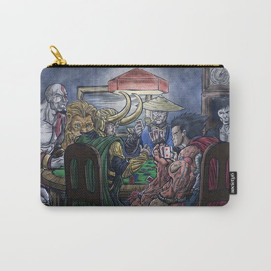 Gods Playing Poker Carry-All Pouch