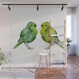 Parakeets Wall Mural