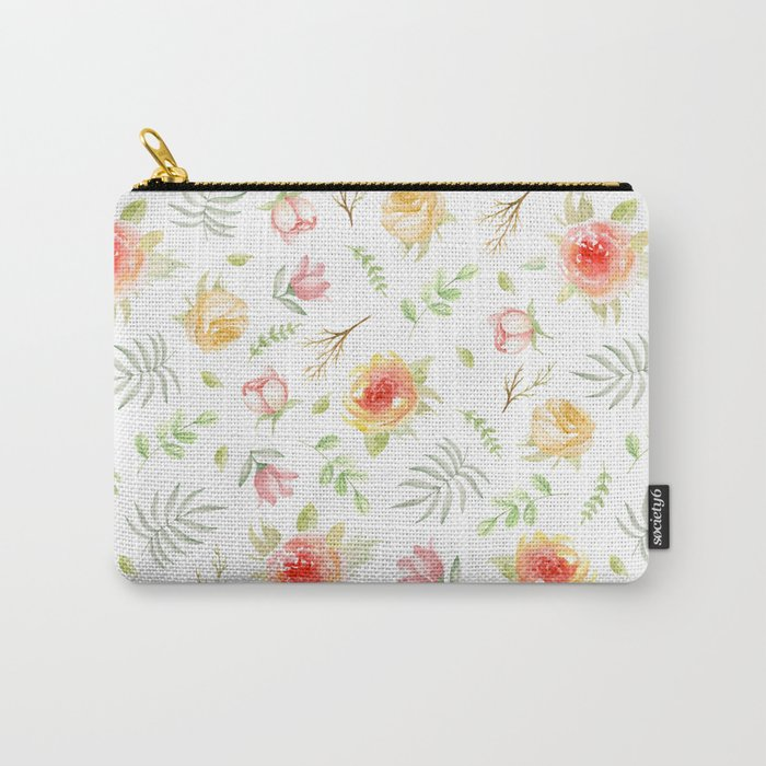 Vintage pattern. Roses Carry-All Pouch