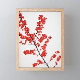 Red Berries Framed Mini Art Print
