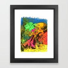 Neon Magic Framed Art Print