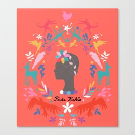 Frida Cameo in Tamale Canvas Print