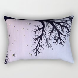 Fireflies and a Tree Rectangular Pillow