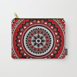 Red and Black Mandala Carry-All Pouch