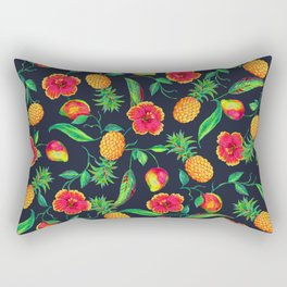 Tropical fruit and flowers Rectangular Pillow