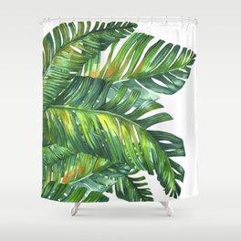 tropical green 2 Shower Curtain