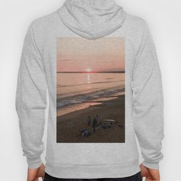 tranche sur mer france aerial drone shot sunset crew surf water Hoody