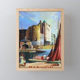 retro Bangor Northern Ireland Framed Mini Art Print