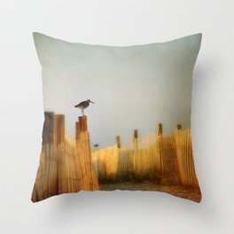 be still and breathe Throw Pillow