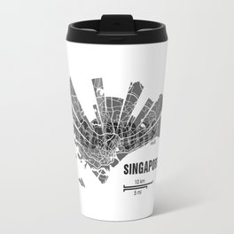 Singapore Map Travel Mug
