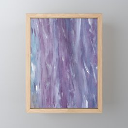 Touching Purple Blue Watercolor Abstract #1 #painting #decor #art #society6 Framed Mini Art Print