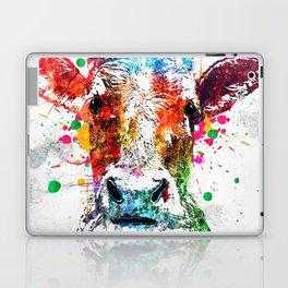 Cow Watercolor Grunge Laptop & iPad Skin