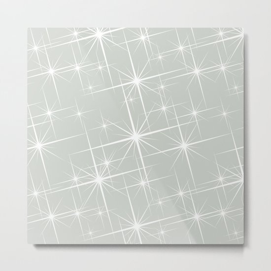 Gray Grey Glitters Sea Salt Metal Print