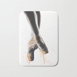 Peach Ballet Shoes Bath Mat