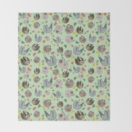 Sloths Throw Blanket