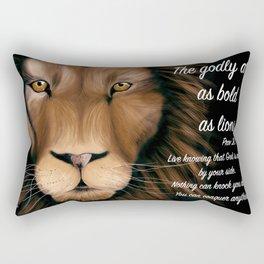 Lion - Proverbs 28, 1 Rectangular Pillow
