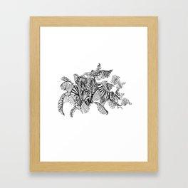 Fern Floor :: Single Line Framed Art Print