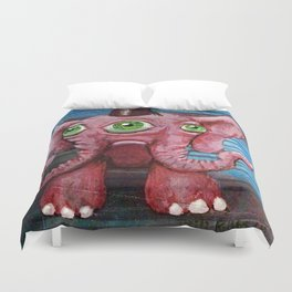 Pachyderm Goes Both Ways Duvet Cover