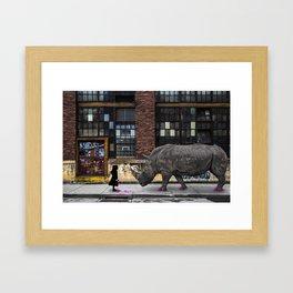 Real Rhinos Wear Pink Framed Art Print