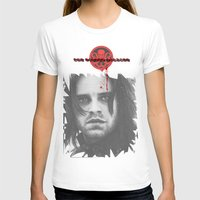 "bucky barnes T-shirts featuring Bucky Barnes ""The Winter Soldier"" Portrait by thecannibalfactory"
