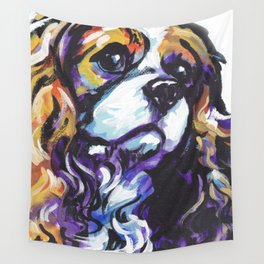 Blenheim Cavalier King Charles Spaniel Dog Portrait Pop Art painting by Lea Wall Tapestry