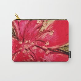 Red Hibiscus Detail Carry-All Pouch