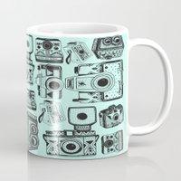 cameras Mugs featuring Vintage Cameras  by Indi Maverick