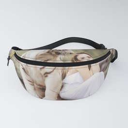 White Bengal Tiger With Japanese Woman Fanny Pack