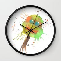 tmnt Wall Clocks featuring TMNT by SpooksieBoo