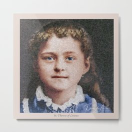 Young St. Therese of Lisieux Metal Print