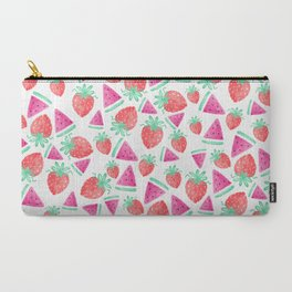 Watermelon + Strawberry Carry-All Pouch