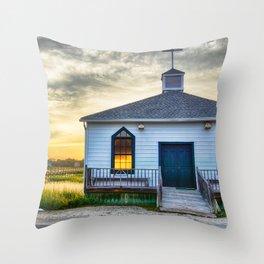 Pawleys Island Chapel Throw Pillow