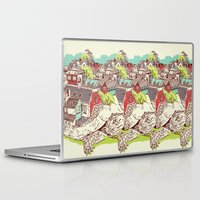 the neighbourhood Laptop & iPad Skins featuring Tur-Town by Yoshi Andrian