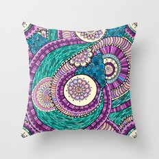 Exotic Palette Throw Pillow