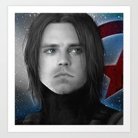 bucky barnes Art Prints featuring Bucky - James Buchanan Barnes  by Caim Thomas