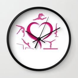 gymnastics aparatus love on white Wall Clock